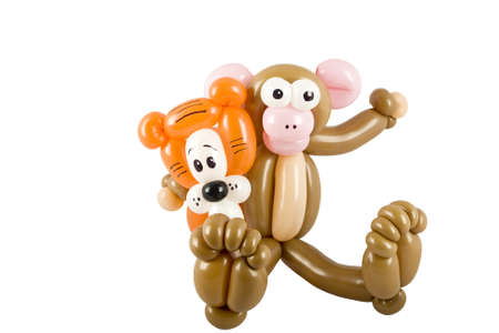 Balloon animal tiger and monkey