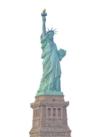 Front view of the Statue of Liberty in New York City isolated  photo