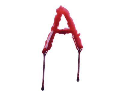 Dripping blood fonts the letter A 免版税图像