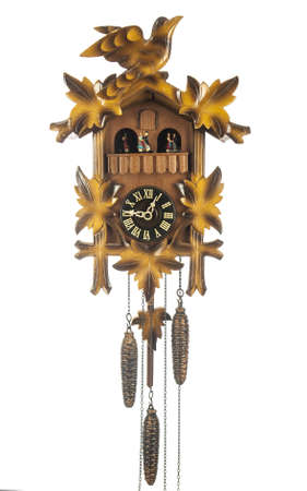 german swiss: Vintage cuckoo clock Stock Photo