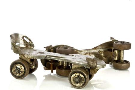 roller skating: Rusty vintage roller skates