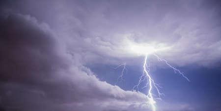 Stormy skys with lightning photo