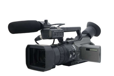 Prosumer videocámara aislada en blanco