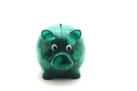 Full piggy bank Stock Photo - 14812965