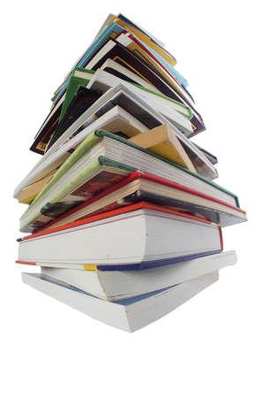 Pila de libros aislados en blanco Foto de archivo - 14812994