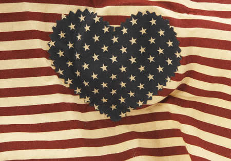 Heart stars and stripes background photo