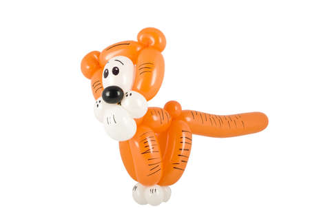 Balloon animal tiger Stock Photo