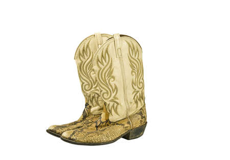 Snakeskin Cowboys Boots photo