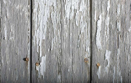 Wood planks background with peeling paint photo