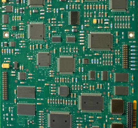 Closeup of electronic circuit board  photo