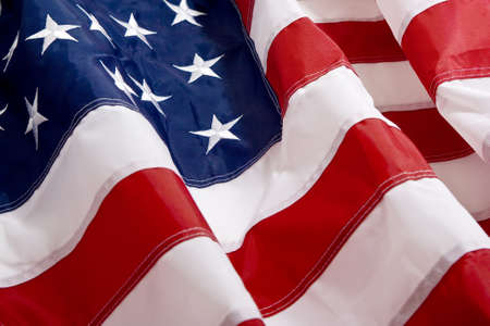 state government: American Flag waving in the wind Stock Photo