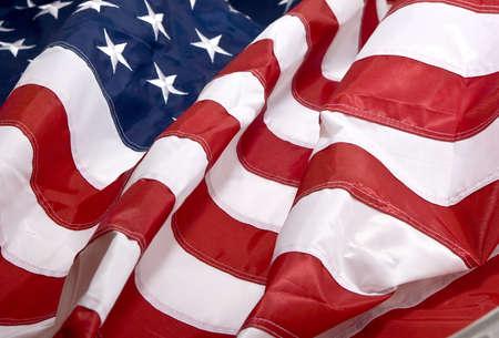 democracia: Bandera americana ondeando en el viento