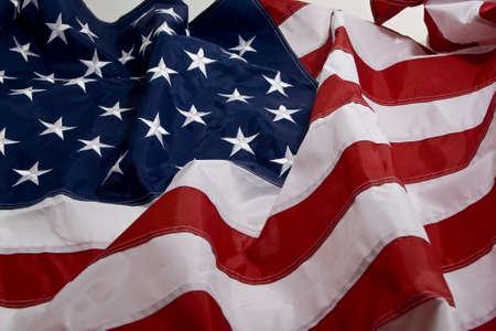 American Flag im Wind wehende Standard-Bild - 14884623