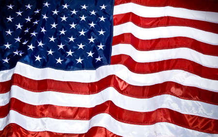 free vote: American Flag waving in the wind Stock Photo