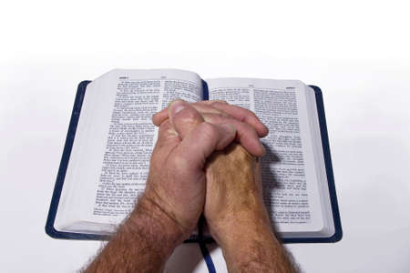 betende h�nde: Betende H�nde auf Bibel Lizenzfreie Bilder
