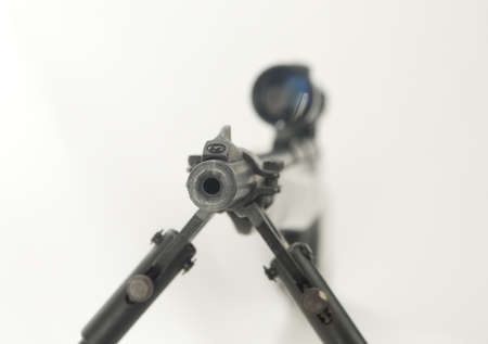 Rifle with scope close up Stok Fotoğraf