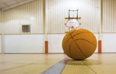 Basketball on a basketball Court  photo