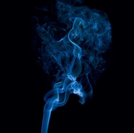 Blue smoke  photo