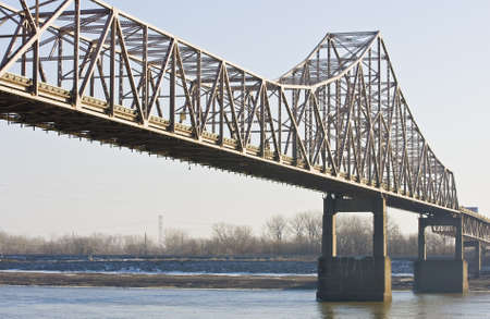 steel: Bridge across the Mississippi at St  Louis  Stock Photo