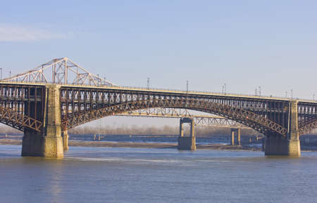 Bridge across the Mississippi at St  Louis  Stock Photo - 14976913