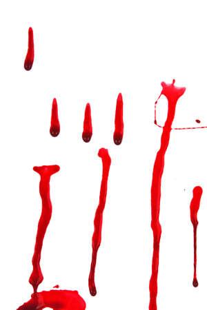 Dripping blood splatters