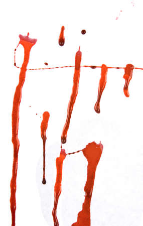 Dripping blood splatters  photo
