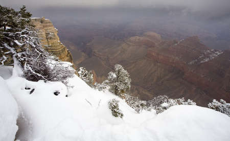View of Colorado River in Grand Canyon northern end wall  photo