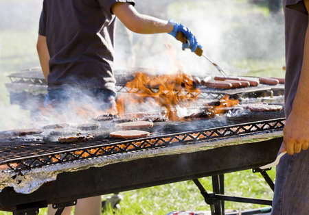 shishkabab: Barbecuing for a party
