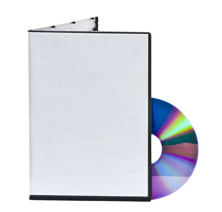 dvd case: Blank DVD case and disc with room for your text