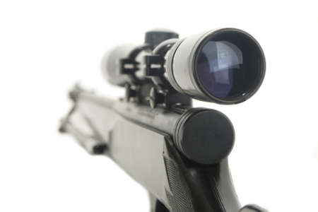 Rifle with scope  Stock Photo