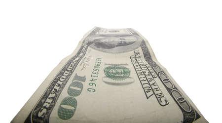 Hundred dollar bill isolated Stock Photo - 14909420