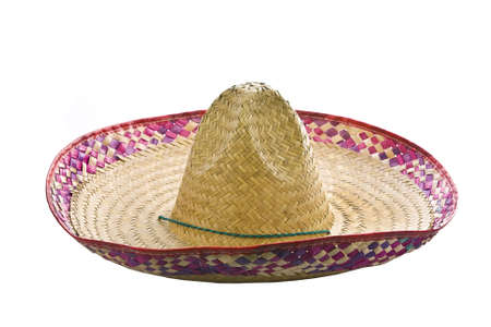 traditional culture: A mexican sombrero isolated on a white background