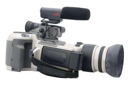Older Hi-8 camcorder isolated on white Stock Photo - 14909707