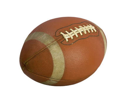 Old american football isolated over a white background  photo