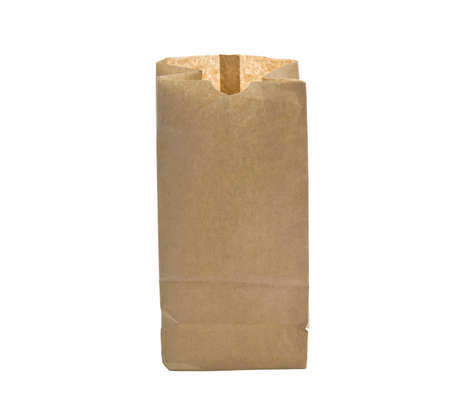 paper bag  Isolated on a white background photo
