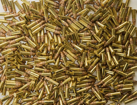ammunition: Pile of bullets background