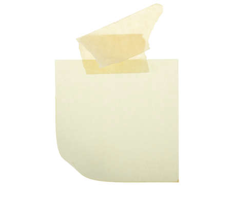 blank curled post it note