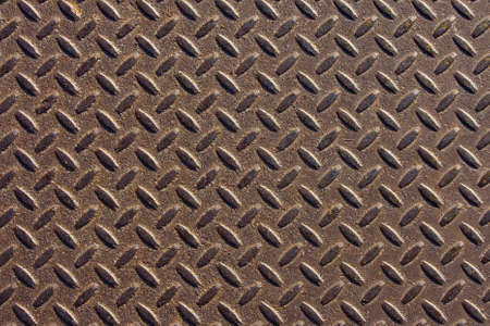 ironworks: Grunge looking diamond steel plate background Stock Photo