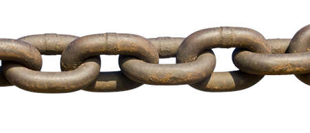 rusty chain: Rusty chain isolated on white Stock Photo