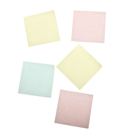 blank post it notes isolated on white photo