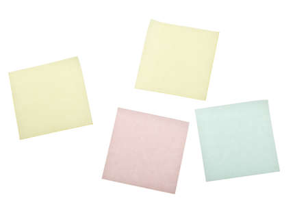 blank post it notes isolated on white