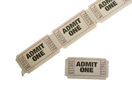 raffle ticket: vintage admit one tickets close up