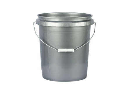 silver service: utility bucket isolated on a white