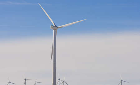 wind farm off highway in United States  photo