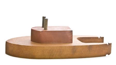 tug boat: Toy wood tug boat Stock Photo