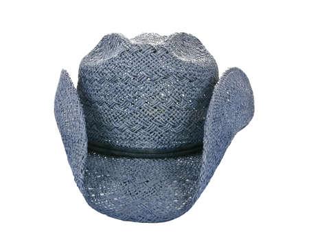 resistol: Americana paja sombrero de vaquero azul aislado en blanco