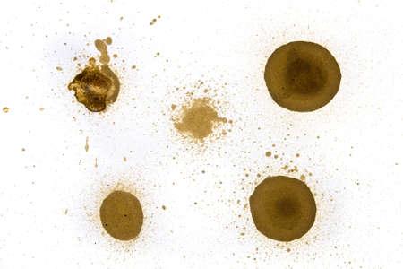 inkblot: Set of various ink splatters, isolated