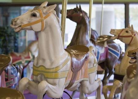 Horses on a Merry Go Round  photo