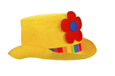 headgear: Yellow Clown hat Stock Photo
