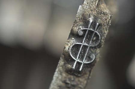 Old typewriter type with focus on dollar symbol Stock Photo - 15815274